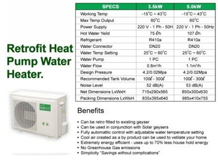Geyser heat pump
