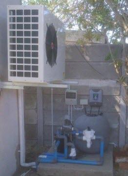 solnet pool heat pump, chlorinator and filter